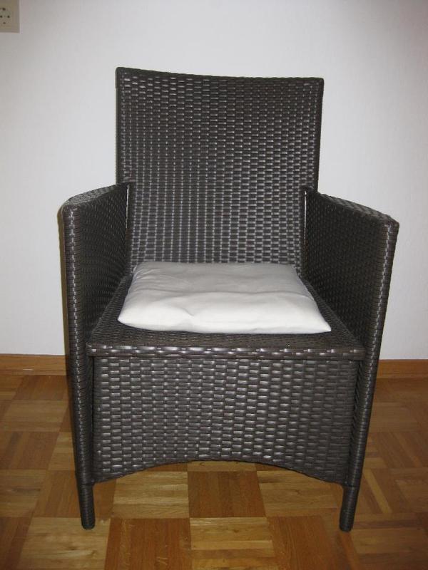verkaufe 2 sch ne st hle aus polyrattan in peine gartenm bel kaufen und verkaufen ber private. Black Bedroom Furniture Sets. Home Design Ideas