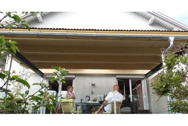 verkaufe terrassen berdachung stahlkonstruktion. Black Bedroom Furniture Sets. Home Design Ideas