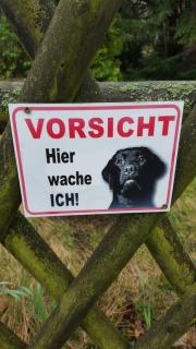 Vorsicht Hund Schilder