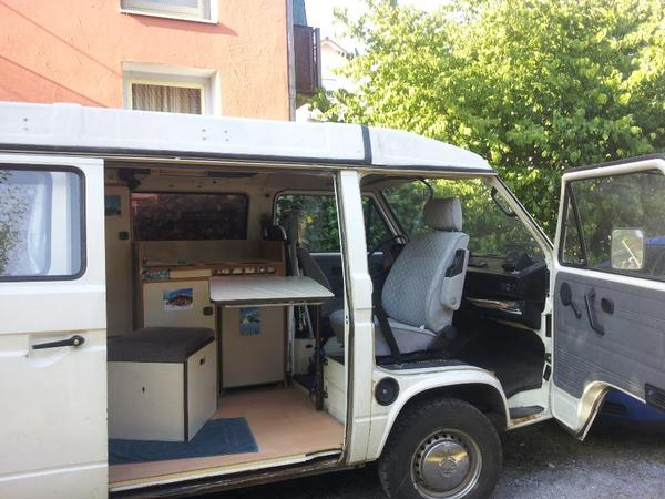 vw t3 bus camper td 1 6 mit westfalia aufstelldach in. Black Bedroom Furniture Sets. Home Design Ideas