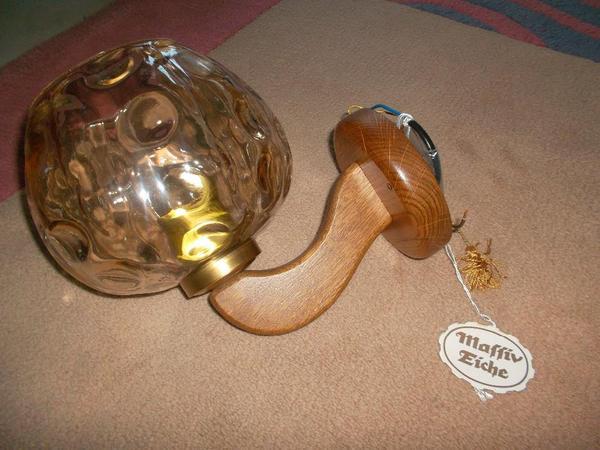 wandlampe eiche rustikal in graben neudorf lampen kaufen. Black Bedroom Furniture Sets. Home Design Ideas