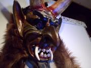 Wehrwolfmaske, handgeschnitzt