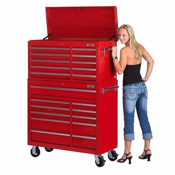 Werkstattwagen Set 21 Schubladen - Rot ...