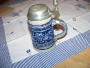 Westerwälder Steingut-Bierkrug
