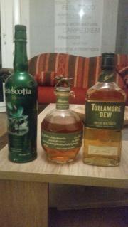 Whisky und Eisbehälter