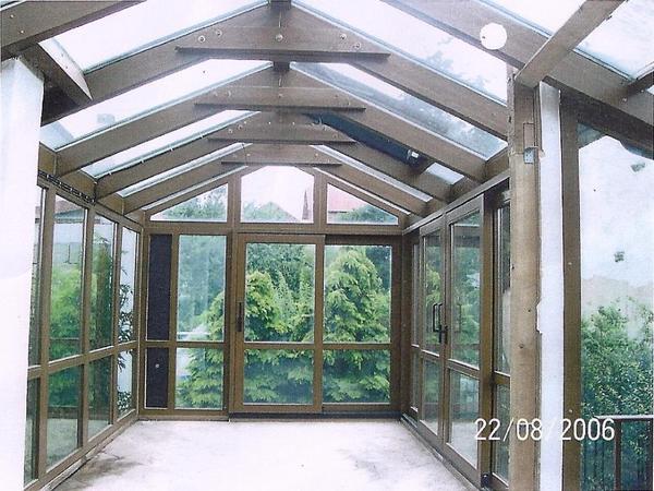 wintergarten aus holz und glas. Black Bedroom Furniture Sets. Home Design Ideas