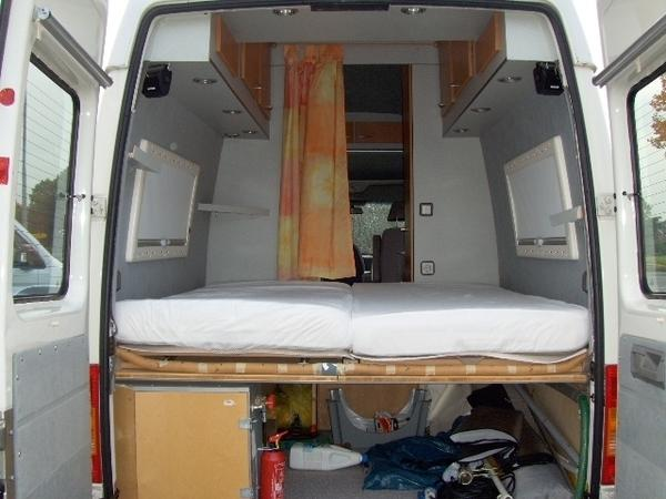 wohnmobil vw lt35 mit vorzelt markise fahrradanh nger. Black Bedroom Furniture Sets. Home Design Ideas