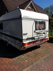 Wohnwagen mit Solar