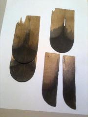 Wunderbare hundertjährige Holzschindeln
