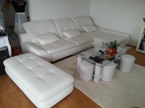 xora wohnlandschaft style l leder toro white 6 monate alt. Black Bedroom Furniture Sets. Home Design Ideas