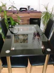 schwarzer glastisch in berlin haushalt m bel gebraucht und neu kaufen. Black Bedroom Furniture Sets. Home Design Ideas