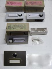 1 Paket Klingeltaster Metall-Kontaktplatten mit