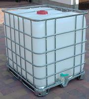 Innovativ 1000 L IBC Container schwarz Tonne Zisterne Wasserfass Gitterbox  IK65