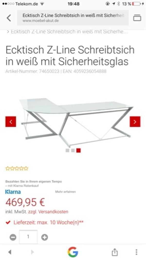 2 BÜRO SCHREIBTISCH CHEFSESSEL STUHL SCHWARZ Z LINE in Berlin ...