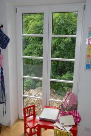 Fenster Fürstenfeldbruck 2x holz alu fenster und 1x holz alu tür mit sprossen gebraucht