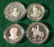 4 Silbermedaillen 1992 Kaiser Könige