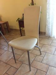 4 Weiße Esszimmerstühle