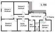5 Zimmer, Wohnfläche