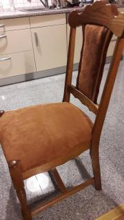 5x Massivholz Stühle mit Federkern