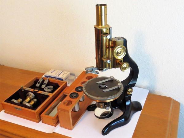 Antik mikroskop ernst leitz wetzlar in ulm optik kaufen und