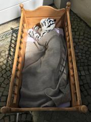 Antikes Kinderbett Holz