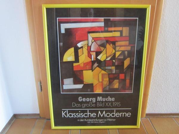 Ausstellungsplakat DDR vor » Kunst, Gemälde, Plastik