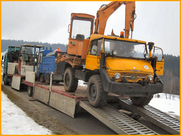 bagger transporte trecker traktor unimog baumaschinen container bauwagen boote schlepper. Black Bedroom Furniture Sets. Home Design Ideas