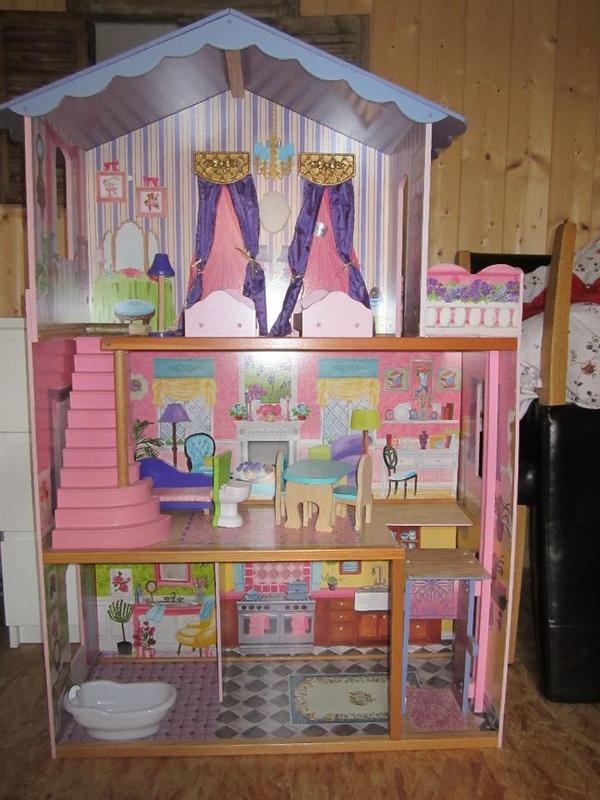 Barbiehaus Aus Holz : barbiehaus puppenhaus meine traumvilla kidkraft holz in ~ Watch28wear.com Haus und Dekorationen