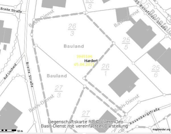 Baugrundstück in HARDERT bei Rengsdorf