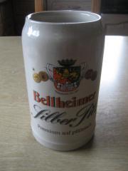 Bierkrug 1 Liter Bellheimer Silber