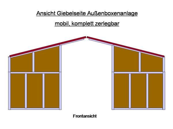 biete einfache mobile Weidehütte ca