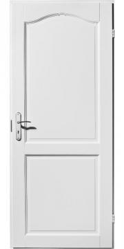 Tür weiß mit zarge  Biete Tür, Landhaustüren, Zimmertüren 2 Füllung geschwungen Weiß ...