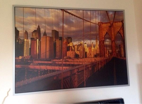 Bild - Bochum Hamme - Großes Bild von Ikea von der Brooklyn Bridge :) Sehr guter Zustand. 140x100 - Bochum Hamme