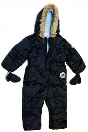 Blauer Overall in