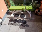 Bodybuilding Gewichte Stangen