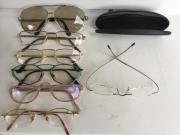 Brillengestelle Metall mit Gläsern und
