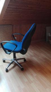 Bürostuhl blau mit