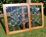 Butzenfenster mit formschönen Butzenglasscheiben