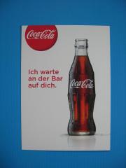 Coca Cola Postkarte Ich warte