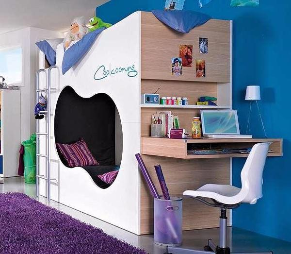coolste kinderbett m dchenzimmer stockbett der marke r hr. Black Bedroom Furniture Sets. Home Design Ideas
