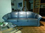 Couch Echtleder 3-
