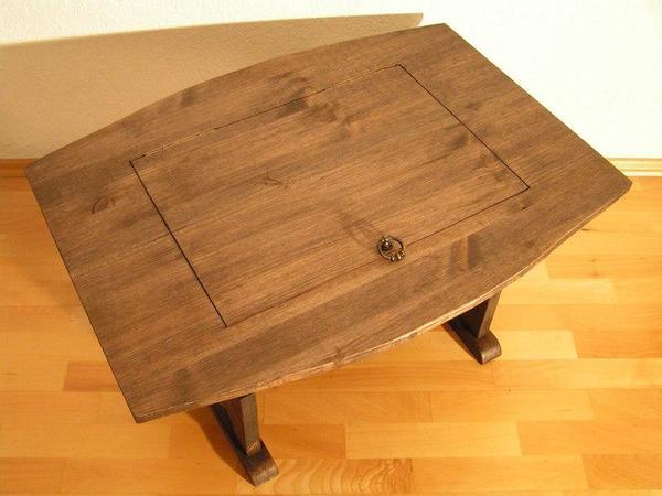 Tisch Couchtisch Weinfass Aus Massivholz 80x60x42cm Beistelltisch