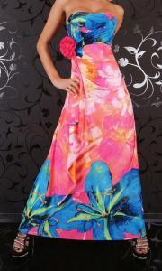 Damenbekleidung Kleid Long Kleid bunt