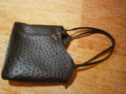 Damenhandtasche Rucksack braun mit Krokoprägung