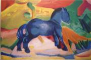 Das blaue Pferd Ölgemälde von