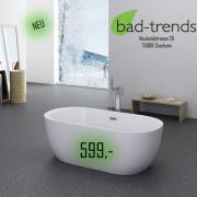 badewanne freistehend gebraucht kaufen nur 4 st bis 65 g nstiger. Black Bedroom Furniture Sets. Home Design Ideas