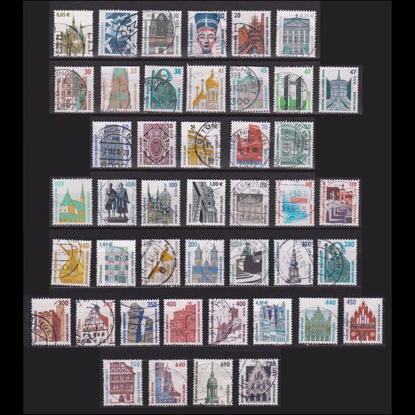 Deutsche Briefmarken Sehenswürdigkeiten Gestempelt In Neunkirchen