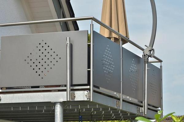edelstahlgel nder balkongel nder v2a edelstahl in teningen. Black Bedroom Furniture Sets. Home Design Ideas