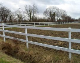 Einzäunung in weiß Kunststoff für: Kleinanzeigen aus Neumünster - Rubrik Pferde