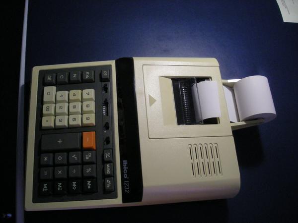 Electronic Calculator - Höchst - Ibico 1232 Electronic Calculator 100 % in Ordnung !Siehe Bilder !! - Höchst